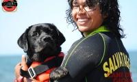 Kira,cane da soccorso in acqua